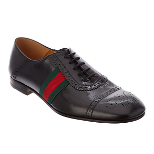 Gucci Web Perforated Leather Oxford