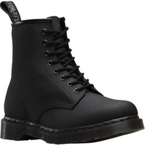 Dr. Martens 7B10 NS 7 Eye Boot - Black Industrial Bear - FREE Shipping & Exchanges