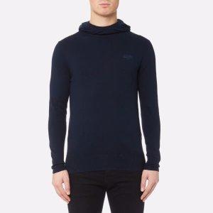 Superdry Men's Orange Label Knitted Hoody - Eclipse Navy Marl