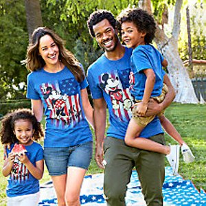 Mickey and Minnie Mouse Americana Family Tee Collection
