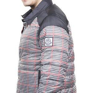 Moncler Moncler Men's Gamme Bleu Checkered Down Jacket Navy Blue | Bluefly.Com