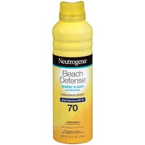 Neutrogena Beach Defense Sunscreen Spray SPF 70, 6.5 Oz  by Neutrogena
