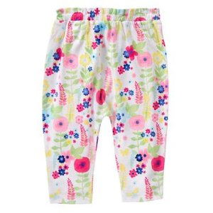 Baby Watercolor Blooms Floral Pants by Gymboree