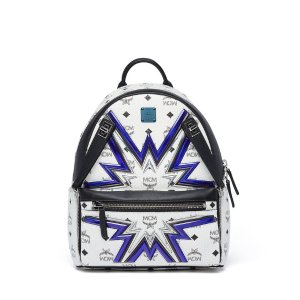 Small Dual Stark Cyber Flash Backpack in White