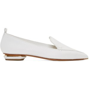 Nicholas Kirkwood: White Leather Beya Loafers