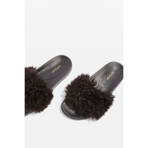 HOWL Faux Shearling Sliders - Shoes Up To 60% Off - Sale