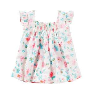 Kid Girl Smocked Floral Top | OshKosh.com