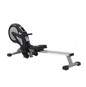Sunny Health & Fitness SF-RW5623 Air Magnetic Rowing Machine Rower w/ LCD Monitor