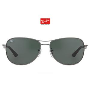 Ray-Ban RB3519 62, Gun, Grn Sunglasses