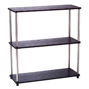 3 Tier Bookshelf Black - Convenience Concepts : Target