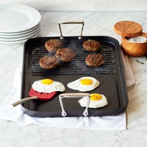 All-Clad Hard-Anodized Two-Burner Combo Grill/Griddle | Sur La Table
