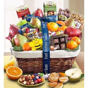 Feel Better Fruit & Sweets Gift Basket