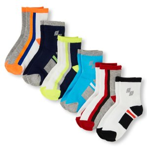 Boys PLACE Sport Logo Midi Socks 6-Pack   The Children's Place