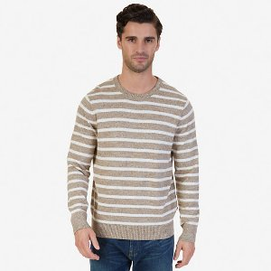 Snowy Striped Sweater