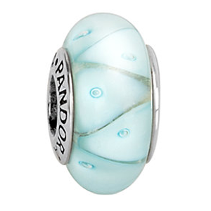 PANDORA Silver Murano Glass Looking Glass Charm