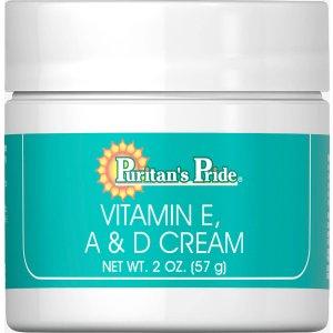 Vitamin E, A & D Cream 2 oz Cream