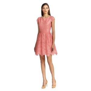 Alice & Olivia Zenden Scalloped Lace Dress | Bluefly.Com