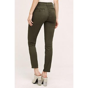 Abroad Sateen Skinny Trousers | Anthropologie