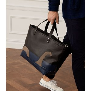 Dipped Leather Loch Ness Coal Bag