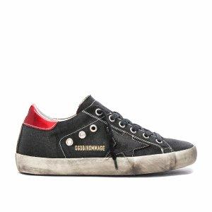 Golden Goose David Bowie Superstar Low Sneakers in Black & Silver