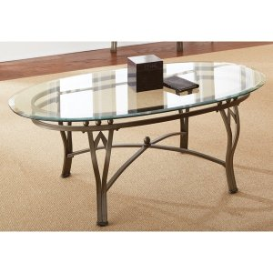 $88Maison Glass-top Oval Coffee Table by Greyson Living