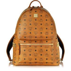 MCM Medium Stark Cognac Backpack