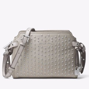 Bristol Studded Leather Messenger