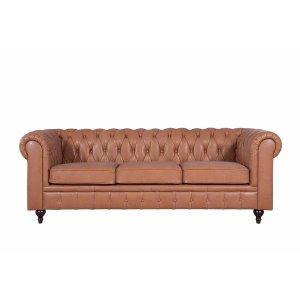 Charleston Classic Leather Chesterfield Sofa | Sofamania.com