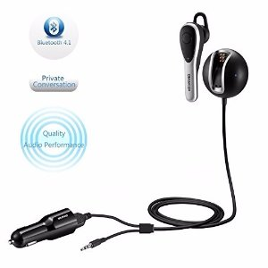 Bluetooth Receiver with Headset and Dual Port USB Car Charger
