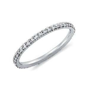 French Pavé Diamond Eternity Ring in Platinum (3/8 ct. tw.) | Blue Nile