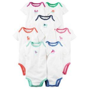 Baby Girl 7-Pack Short-Sleeve Original Bodysuits | Carters.com