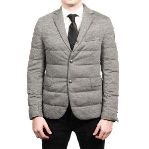 Moncler Moncler Men's Gamme Blue Padded Down Blazer Sportscoat Jacket Grey | Bluefly.Com