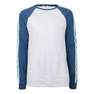 Contrast Long Sleeve Slim Fit Raglan T-Shirt - View All Sale - Sale - TOPMAN USA