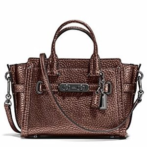 COACH Pebble Leather Coach Swagger 15 | Bloomingdale's
