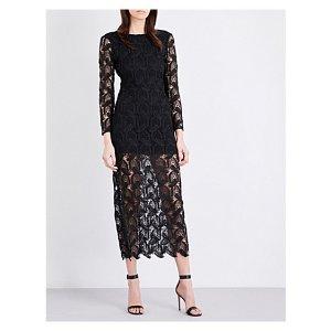MAJE - Rosane guipure-lace and crepe midi dress