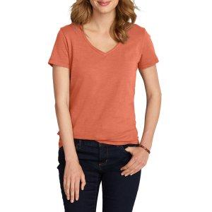 Women's Essential Slub Short-sleeve V-neck T-shirt   Eddie Bauer
