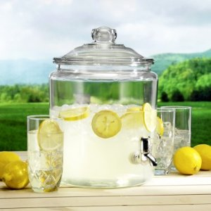 Anchor Hocking 2 gal. Heritage Hill Glass Jar w/ Plastic Spigot - Summer Tent Sale - Sale