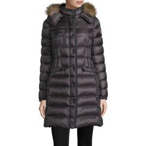 Hermifur Fox Fur-Trimmed Puffer Coat