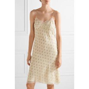 The Row   Santi lace-trimmed floral-print silk-georgette dress   NET-A-PORTER.COM