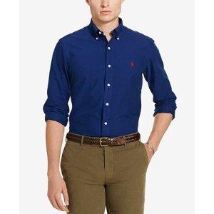 Polo Ralph Lauren Men's Slim Fit Garment Dyed Long-Sleeve Shirt - Polo Ralph Lauren - Men - Macy's