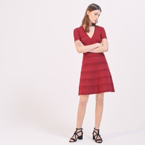 Elasticated Knit Dress - Dresses - Sandro-paris.com