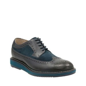 Kenley Limit Dark Blue Combi - Men's Oxford Shoes - Clarks® Shoes Official Site