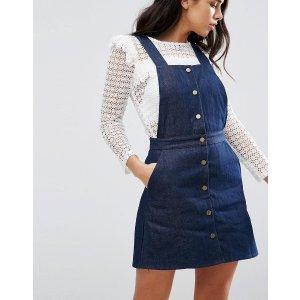 Goldie | Goldie Street Smart Denim Pinafore Dress