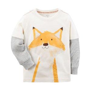 Fox Layered-Look Tee