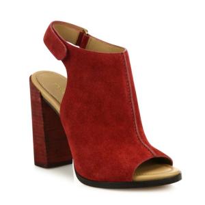 Michael Kors Collection - Maeve Suede Block-Heel Slingback Sandals - saks.com