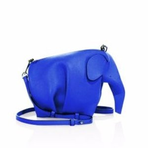 Mini Leather Elephant Crossbody Bag