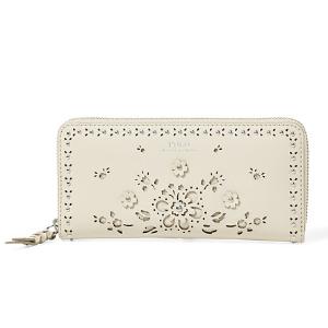 Laser-Cut Zip-Around Wallet - Wallets & Small Leather Goods � Women - RalphLauren.com
