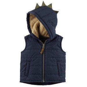 Zip-Up Hooded Spike Vest