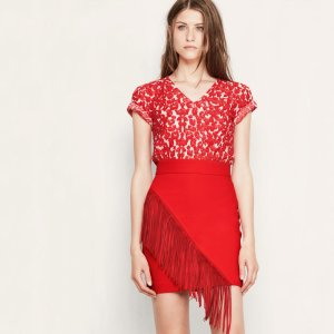 JOAN Fringed short skirt - Skirts & Shorts - Maje.com