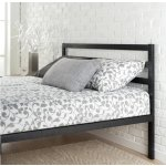 Priage Black Steel Platform Full Size Bed